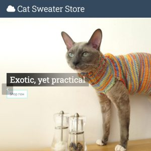Cat sweater store thumbnail